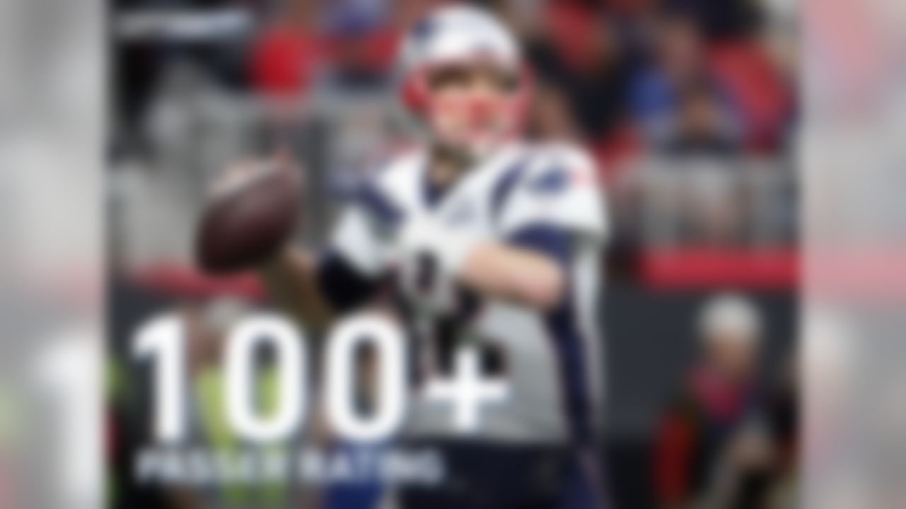 Tom Brady has 16 career playoff games with a 100+ passer rating, the most in the Super Bowl era.
