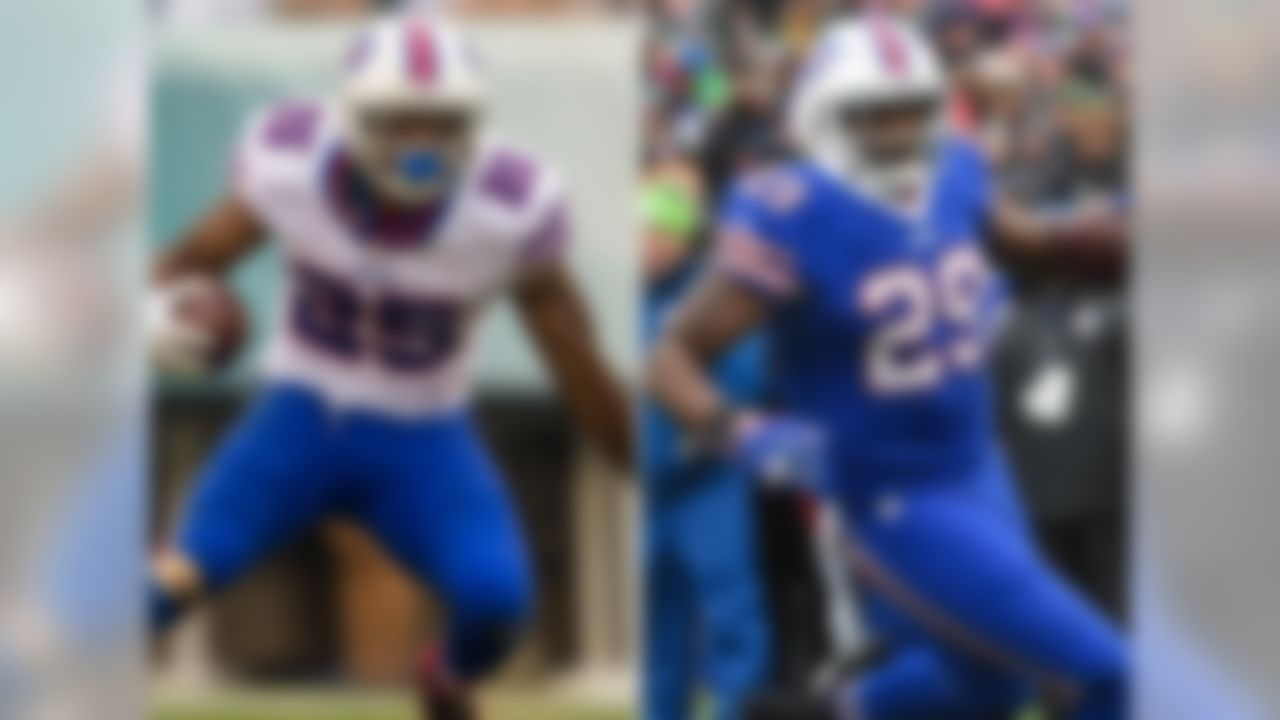 """Rex Ryan's """"ground and pound"""" attack features an electric veteran (LeSean McCoy) with explosive shake-and-bake skills and a big-bodied youngster (Karlos Williams) with big-play potential. In addition, the Bills have an emerging runner in Mike Gillislee with outstanding balance, body control and burst. I predict that, in an offense committed to pounding the ball between the tackles, the Bills' talented stable of runners will anchor the NFL's top-ranked rush attack for the second straight season."""