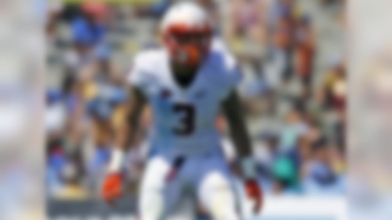 Blanding has been a tackling machine at UVA since becoming a starter as a true freshman, and he's within striking distance of Jamie Sharper's school record for career tackles (435; Blanding has 358). As for his draft status, however, it's Blanding's coverage ability that will draw scouts' attention this fall. Safeties who can clean up against the run aren't hard to find; those who can lock down tight ends and slot receivers are in much shorter supply. NFL.com analyst Bucky Brooks liked what he saw from Blanding last year.