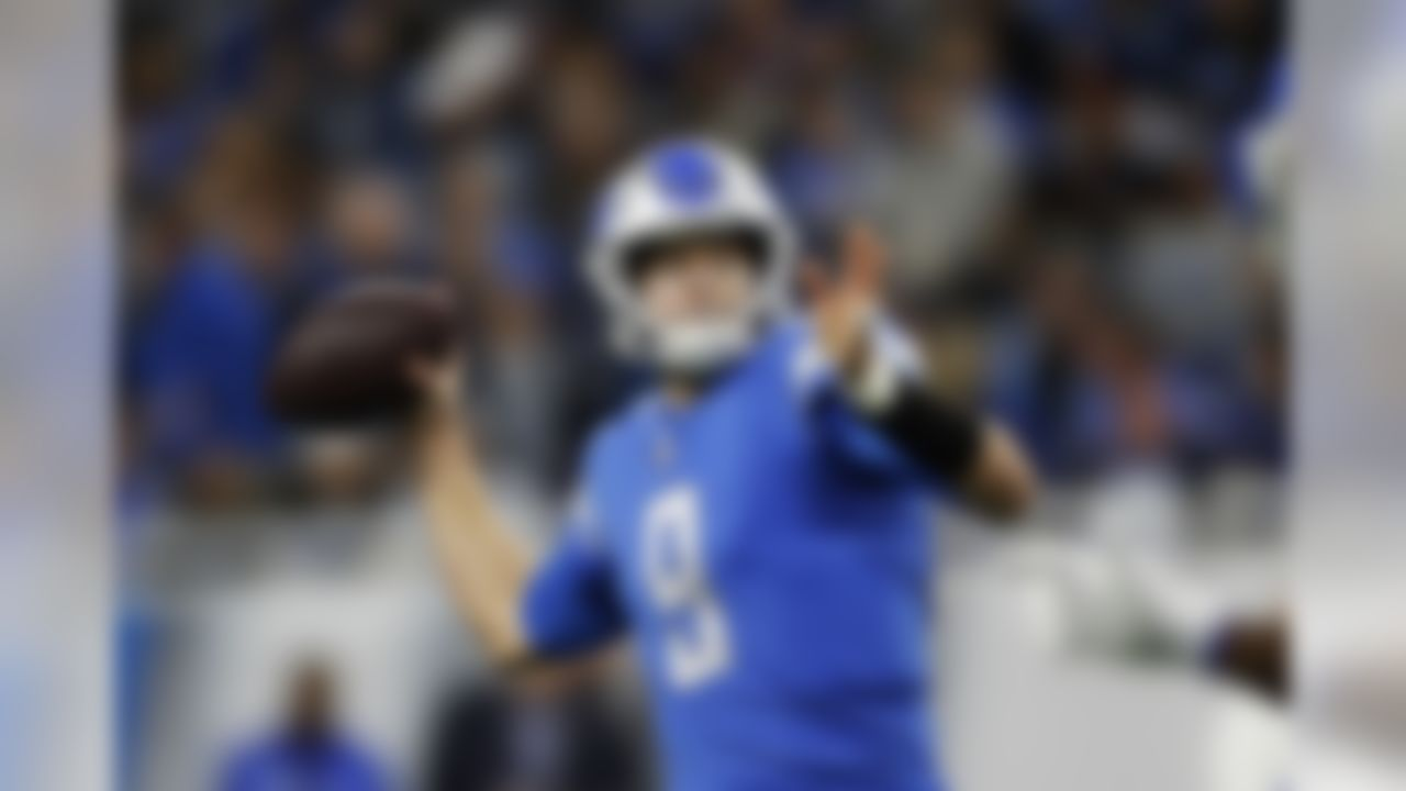 Detroit Lions quarterback Matthew Stafford throws during the first half of an NFL football game against the Minnesota Vikings, Sunday, Dec. 23, 2018, in Detroit. (AP Photo/Rey Del Rio)