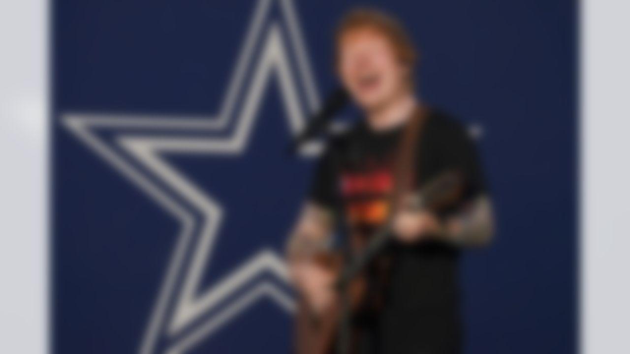 Ed Sheeran performs during Thursday's NFL Kickoff Concert & Viewing Party at Julian B. Lane Park in Tampa.