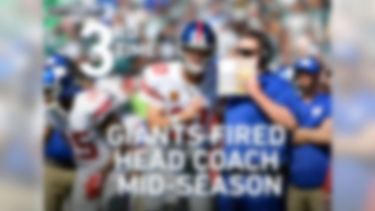 This is the third time in franchise history that the Giants have fired their head coach midseason.