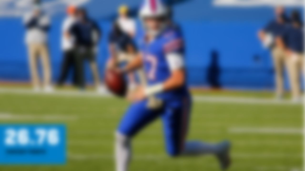 274 pass yards, 2 TD, INT; 38 rush yards, TD