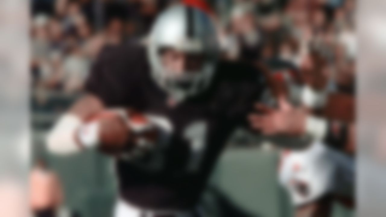 Tim Brown's career started as a wide receiver with long-term potential, although he was an explosive kick returner right out of the gate. The potential came to fruition as No. 81 recorded nine consecutive 1,000-yard seasons, and became the first wideout to lead the AFC in receiving yards for three consecutive seasons (1993-95). Consider Brown to be the NFL's version of a baseball Hall of Famer. He hit some huge milestones, similar to getting 3,000 hits or 500 home runs. The all-time Raiders great finished his career with more than 1,000 catches, more than 100 touchdowns, and nearly 20,000 all-purpose yards. He's a member of the NFL's All-Decade team of the 1990s.