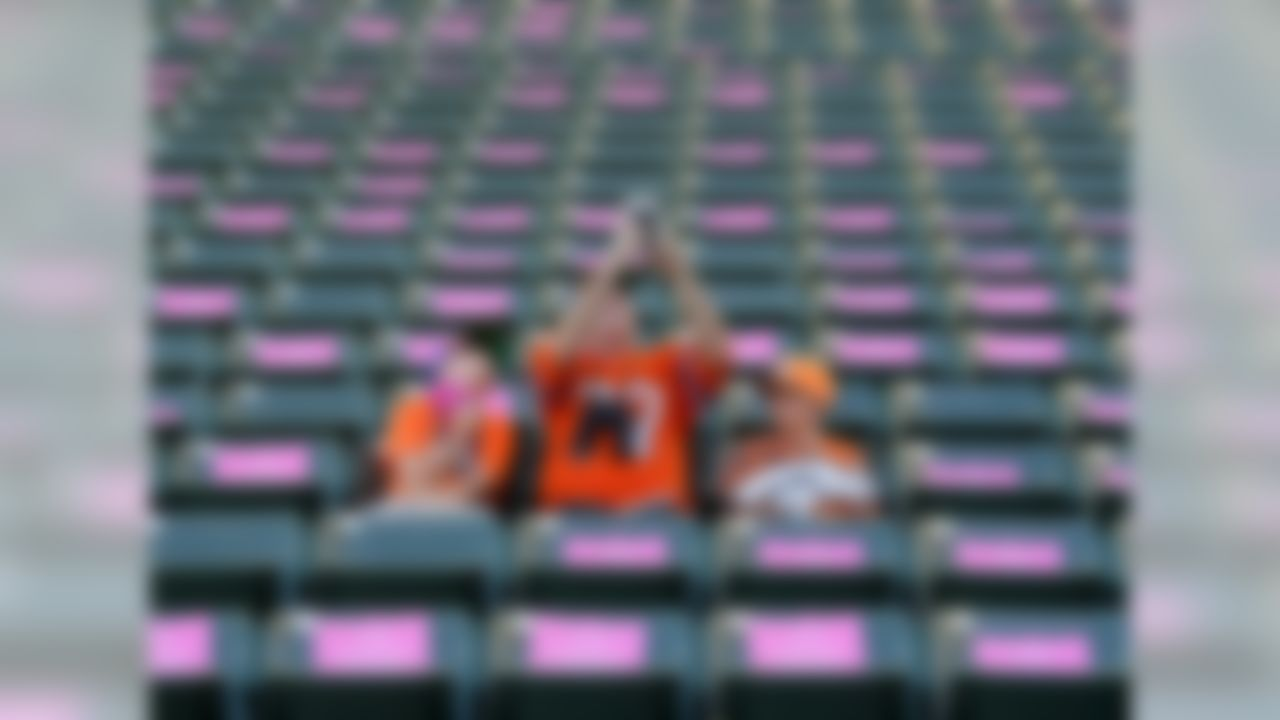 Fans sit in the stands prior to an NFL football game between the Los Angeles Chargers and the Denver Broncos Sunday, Oct. 22, 2017, in Carson, Calif.