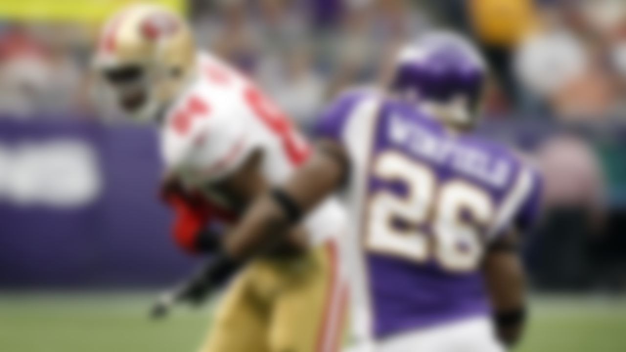 49ers at Vikings  Sept. 23, 2012 (Week 3)  The 21st overall pick of the 1998 draft made an immediate impact, winning the Offensive Rookie of the Year award after he led the NFL with 17 receiving touchdowns. Moss made five Pro Bowls and three All-Pro teams as a member of the Vikings, but he eventually wore out his welcome in Minnesota, walking off the field before the conclusion of the team's regular-season finale at Washington in 2004 and then earning a fine for his infamous touchdown celebration in Green Bay a week later. Moss was traded to the Raiders in the offseason.  His homecoming game arrived in his final NFL season. He retired before the 2011 campaign, but signed a one-year deal with the 49ers in 2012 at the age of 35. The player with the second-most receiving touchdowns in NFL history made his first career start for San Francisco against the Vikings, finishing with three receptions for 27 yards in a 24-13 loss to his original team.