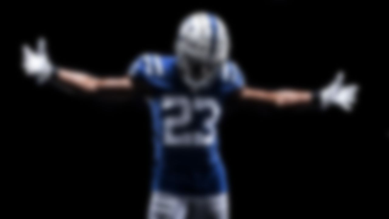 Indianapolis Colts cornerback Kenny Moore (23) in the new Colts 2020 uniforms.