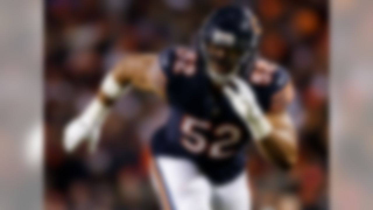 Traded from: Raiders to Bears, 2018.  Mack, at least at the time of his trade to Chicago, was as dominant a performer as any player on this list. It's difficult to gauge Mack's legacy, with such limited service in the league and only one season in his new locale under his belt. Yet, you can make the argument that perhaps no player has ever been traded while playing at the level Mack has these last few seasons. When he was healthy in 2018, no defensive player was better, as his 12.5 sacks and 18 QB hits were huge reasons the Bears had one of the most feared defenses in the league, and he helped foster great team success. After another year like that, people are going to talk about Mack as a future Hall of Famer.