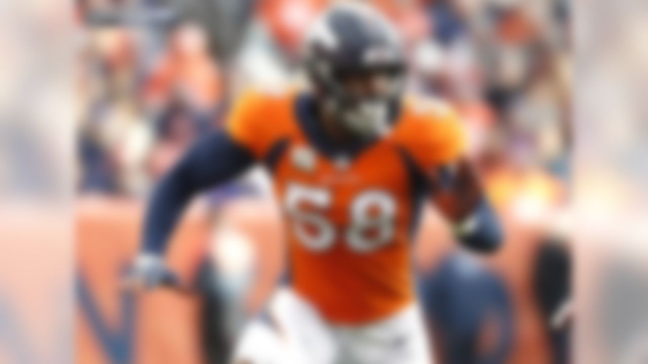 Von Miller has logged double-digit sacks in 5 straight seasons (the longest active streak in the NFL), and his 98.0 sacks since entering the NFL in 2011 are the most in the NFL over that span. Miller's pace of 98.0 sacks through 120 career games trails only 3 players since sacks were first recorded in 1982, Hall of Famer Reggie White (123.0), DeMarcus Ware (108.5), and Hall of Famer/NFL Sack King Bruce Smith (102.5). According to Pro Football Focus, Von Miller has the highest pass rush grade and the most total quarterback pressures among all edge rushers since he entered the league in 2011.