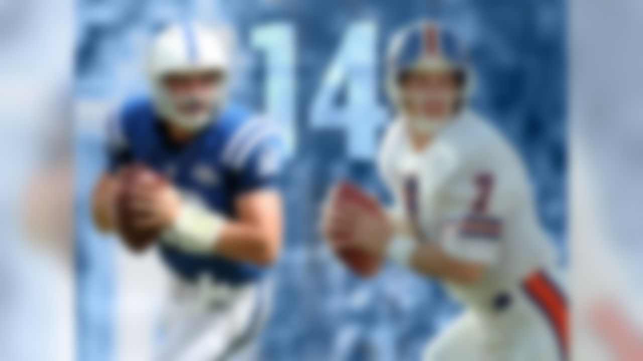 Andrew Luck has a 14-6 record as a starter, tying him with John Elway for the most wins in the first 20 starts by QB drafted No. 1 overall (since 1970)