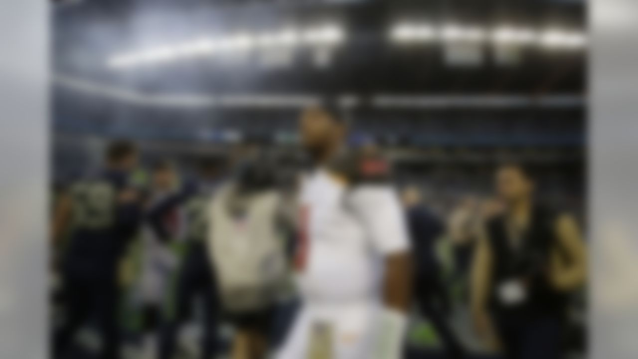 Tampa Bay Buccaneers quarterback Jameis Winston walks on the field at CenturyLink Field after his team lost to the Seattle Seahawks in overtime of an NFL football game, Sunday, Nov. 3, 2019, in Seattle. (AP Photo/Scott Eklund)