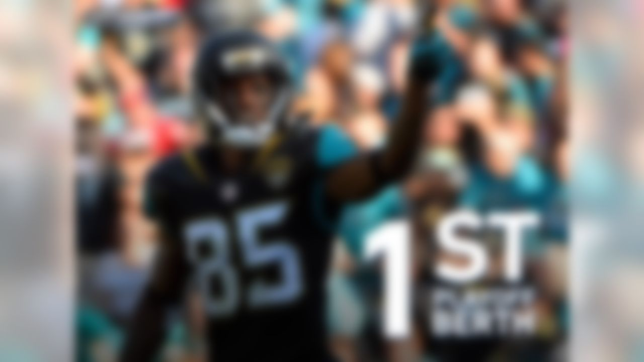 The Jacksonville Jaguars have clinched a playoff berth for the first time since 2007. The 2007 Jaguars were coached by Jack Del Rio with David Garrard at quarterback. The 2007 Jaguars defeated the Steelers at Pittsburgh before losing in the divisional round to the Patriots.