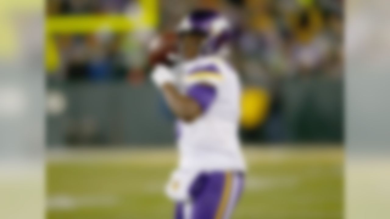 Not bad, kid. Bridgewater led the Vikings to an NFC North title and a playoff berth in only his second year as a starter. Along the way, he posted a respectable 88.7 passer rating. Offensive coordinator Norv Turner and head coach Mike Zimmer wouldn't mind if Bridgewater took more shots down the field, but that might come in time. Why not Derek Carr here? The Raiders' signal caller is a year and a half older than Bridgewater, who doesn't turn 25 until November 2017.