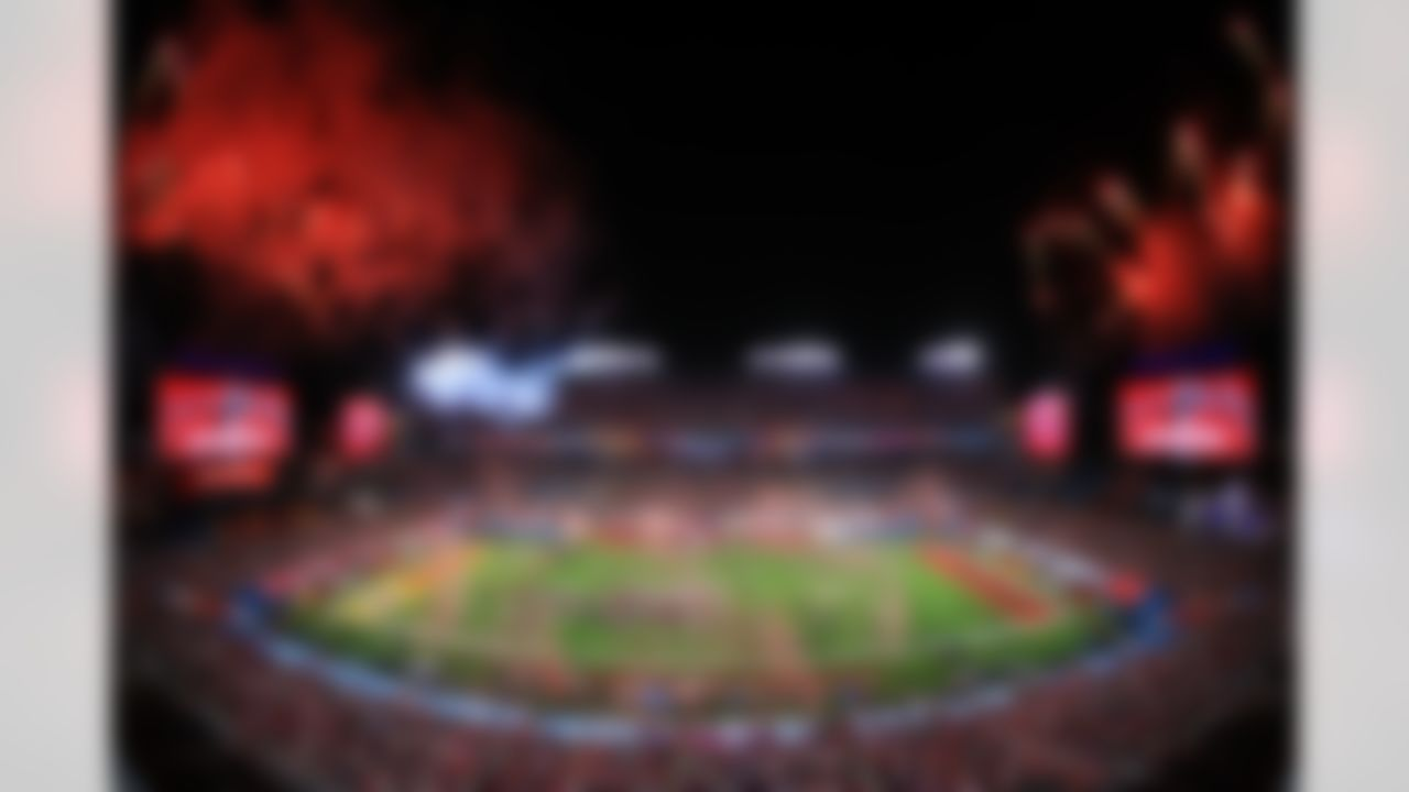 Fireworks explode after the Tampa Bay Buccaneers defeated the Kansas City Chiefs on Sunday, February 7, 2021 in Tampa, Florida.