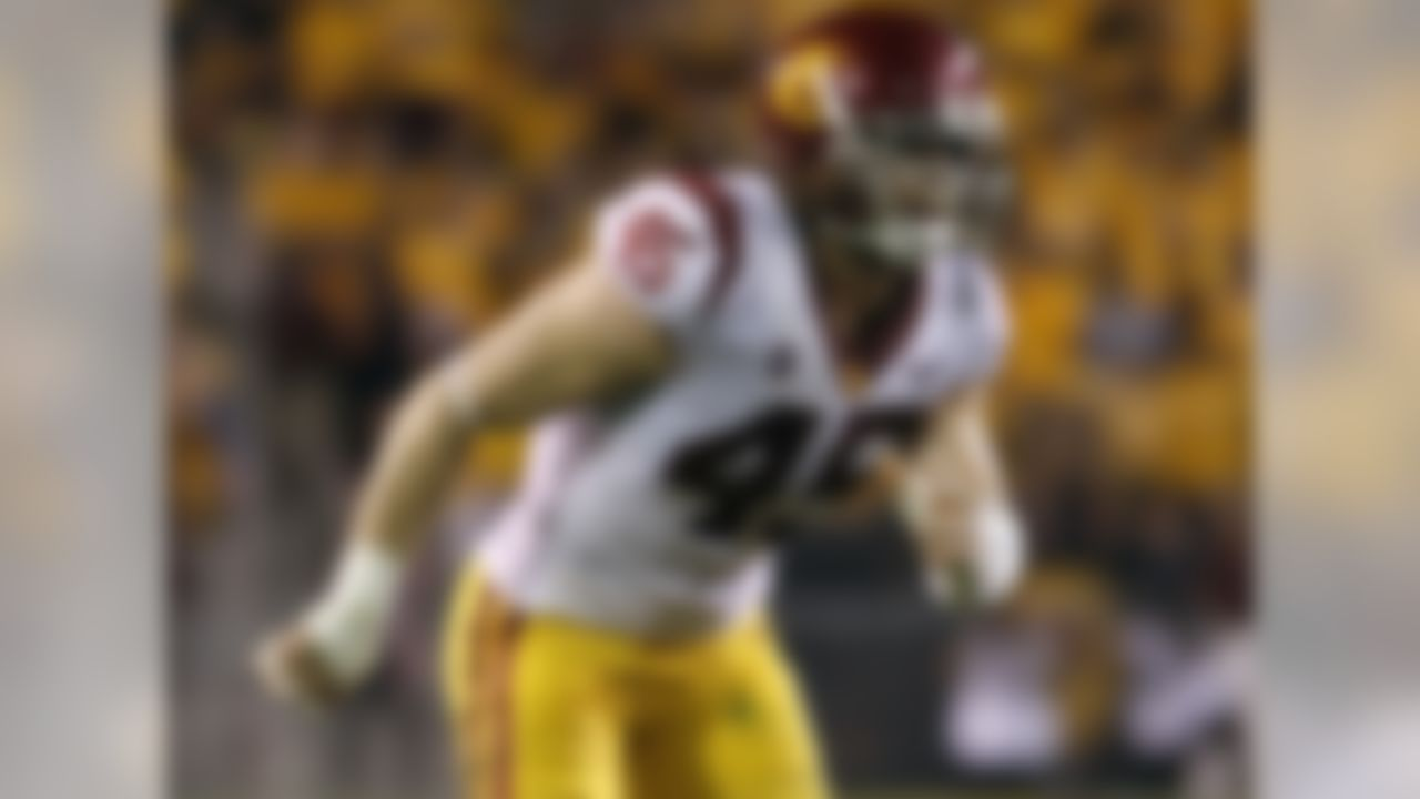 Consider 2017 something of a washout for Gustin, who played just four games due to a broken toe and a biceps tear. Returning for his senior year meant giving himself a chance to leave a much better impression on NFL scouts, and that starts with showing he can stay healthy. If he's right physically, the production will follow. A freakish athlete, the 6-foot-5, 260-pound outside linebacker showed much more of his potential in 2016 when he collected 13.5 tackles for loss, including 5.5 sacks. He's proven he can be disruptive as a pass rusher and a run defender, giving him the all-around game that will propel him to stardom at the next level.
