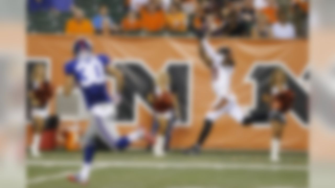 Cincinnati Bengals wide receiver Greg Little (11) makes a catch in the second half of an NFL preseason football game against the New York Giants in Cincinnati, Friday, Aug. 14, 2015.  (AP Photo/Gary Landers)