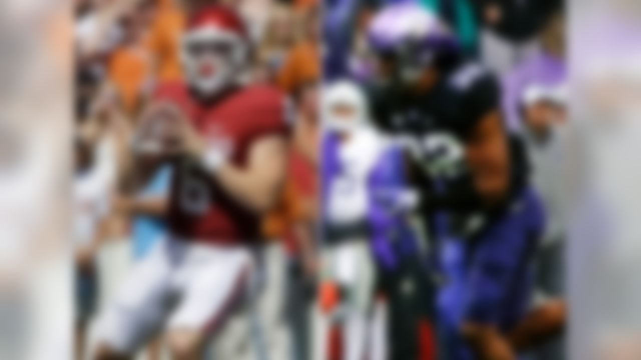 Along with helping to determine draft standing for a number of prospects, this pairing could easily help determine the Big 12 champion, as well. If Oklahoma QB Baker Mayfield is going to show NFL scouts he can be more effective with pocket reads and be less reliant on improvisation, this would be a good game to prove it. The Horned Frogs' Travin Howard, an undersized and speedy linebacker with experience as a safety, could play a big role against OU TE Mark Andrews in coverage. Another matchup to watch: Sooners CB Jordan Thomas vs. TCU WR KaVontae Turpin.