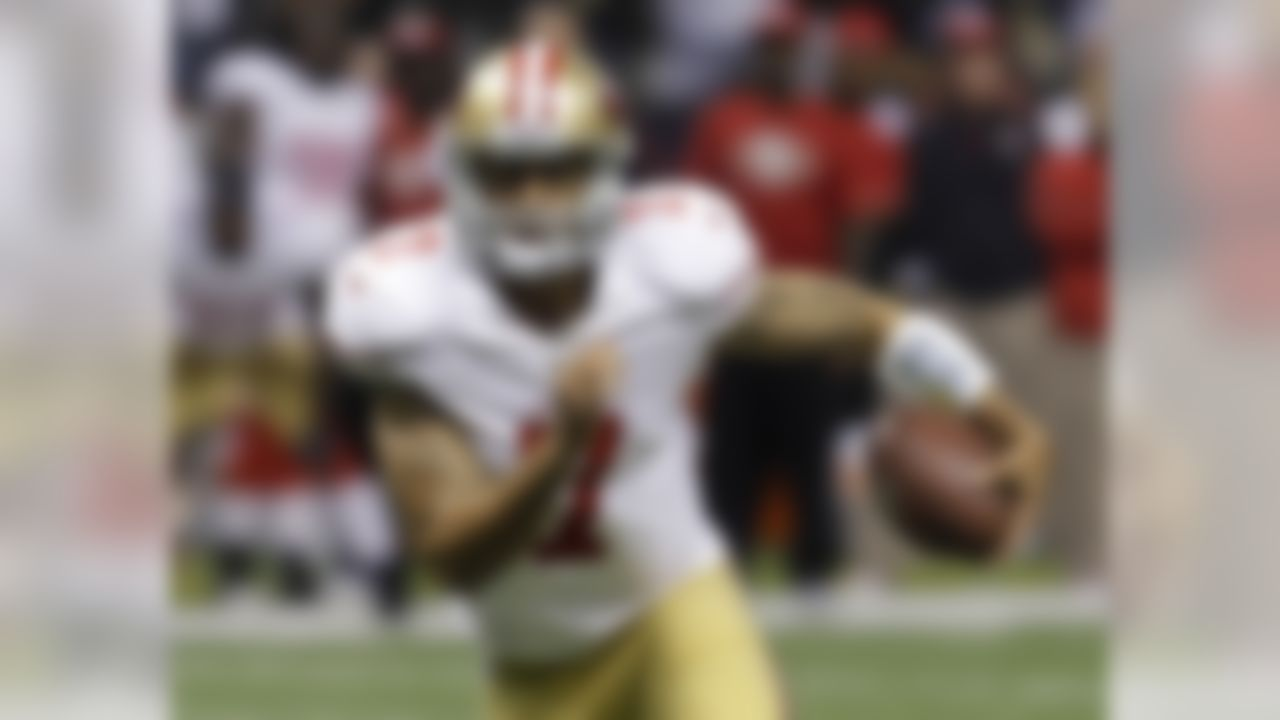 Remember how much I liked Tim Tebow last season? Well, I like Kaepernick even more. Not only does he have a great arm, but the Nevada product can also make plays (and score fantasy points) with his feet as well. Mark my words ... Kaepernick will help lead a lot of fantasy leaguers to a postseason berth.