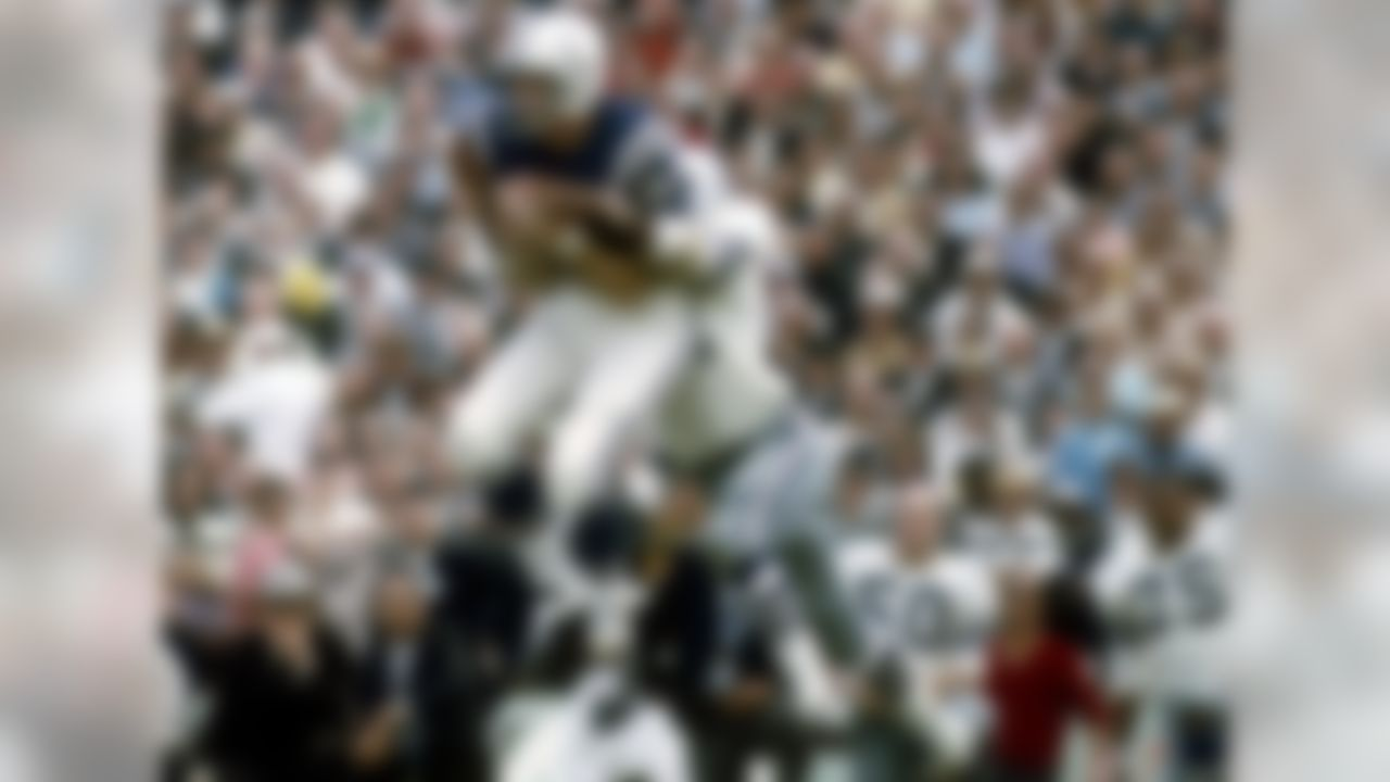 """Baltimore Colts (1955-1967)  """"He was so technically defined. ... The guy had unbelievable hands,"""" says NFL Media analyst Gil Brandt, who saw Berry transform the position of wide receiver in person. Berry attacked the game cerebrally, calibrating the proper steps and spacing that are so integral to the modern route tree. Essentially, Antonio Brown owes a little something to the former Baltimore Colt, who, by the way, was a two-time NFL champion and a first-ballot Hall of Famer. His knack for the details stuck with him even after he was hired as an assistant coach in Dallas. Brandt recalls Berry telling him that their practice field wasn't wide enough. """"I told him, 'No, it's not too short,'"""" Brandt says. """"Then, we actually measured it, and it was six inches short!"""" Berry played wideout like another Colt played quarterback -- Peyton Manning. He edges out James Lofton, Michael Irvin and Andre Johnson, among others."""