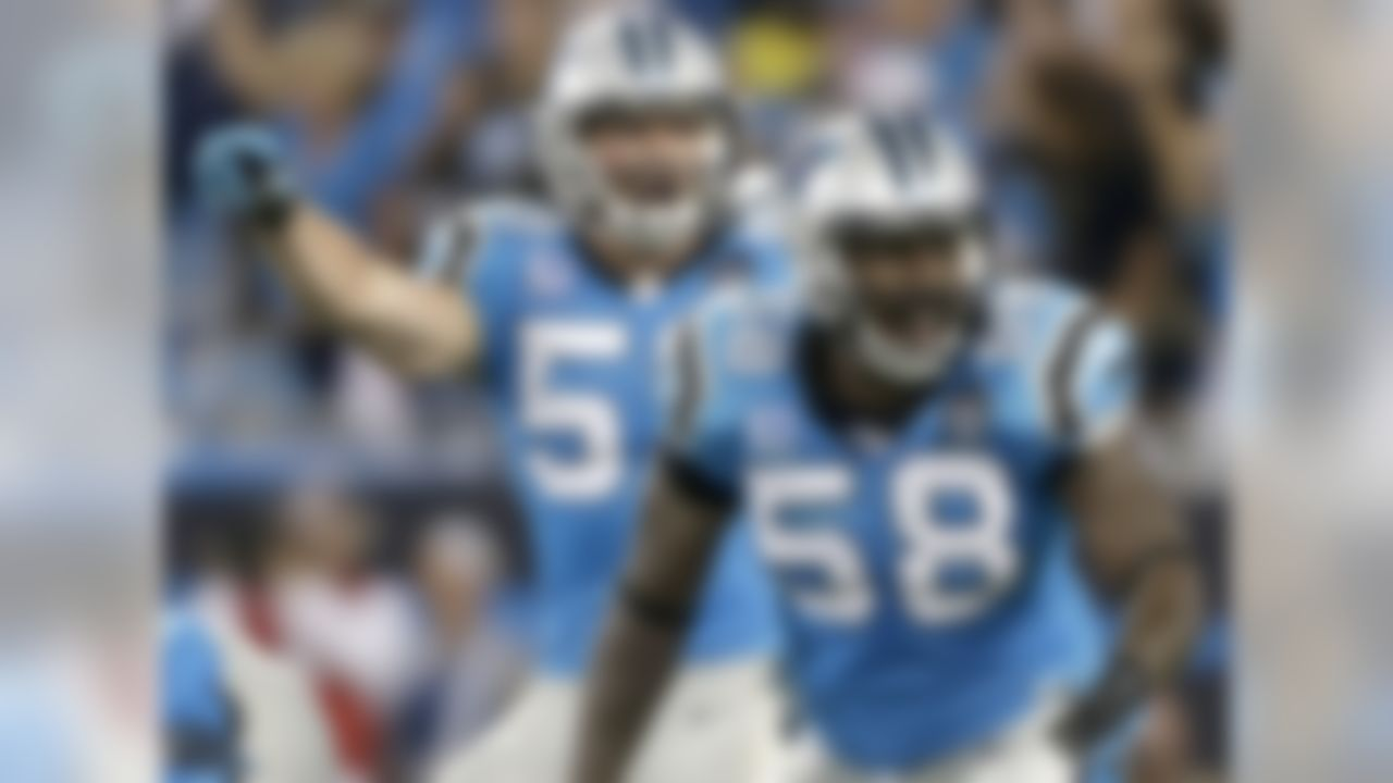 There isn't a more impressive tandem of second-level defenders in the NFL than Luke Kuechly and Thomas Davis in Carolina. These two wreak havoc on opponents with their collective speed, quickness and freakish athleticism, but their instincts and football aptitude are what truly separate them from their counterparts. Kuechly and Davis appear to know the opponent's plan before the snap; their keen anticipation and awareness allow them to blow up plays between the numbers. With the Panthers leaning heavily on their stingy defense to carry the team into the postseason, this dynamic duo deserves consideration as one of the most feared units in football.