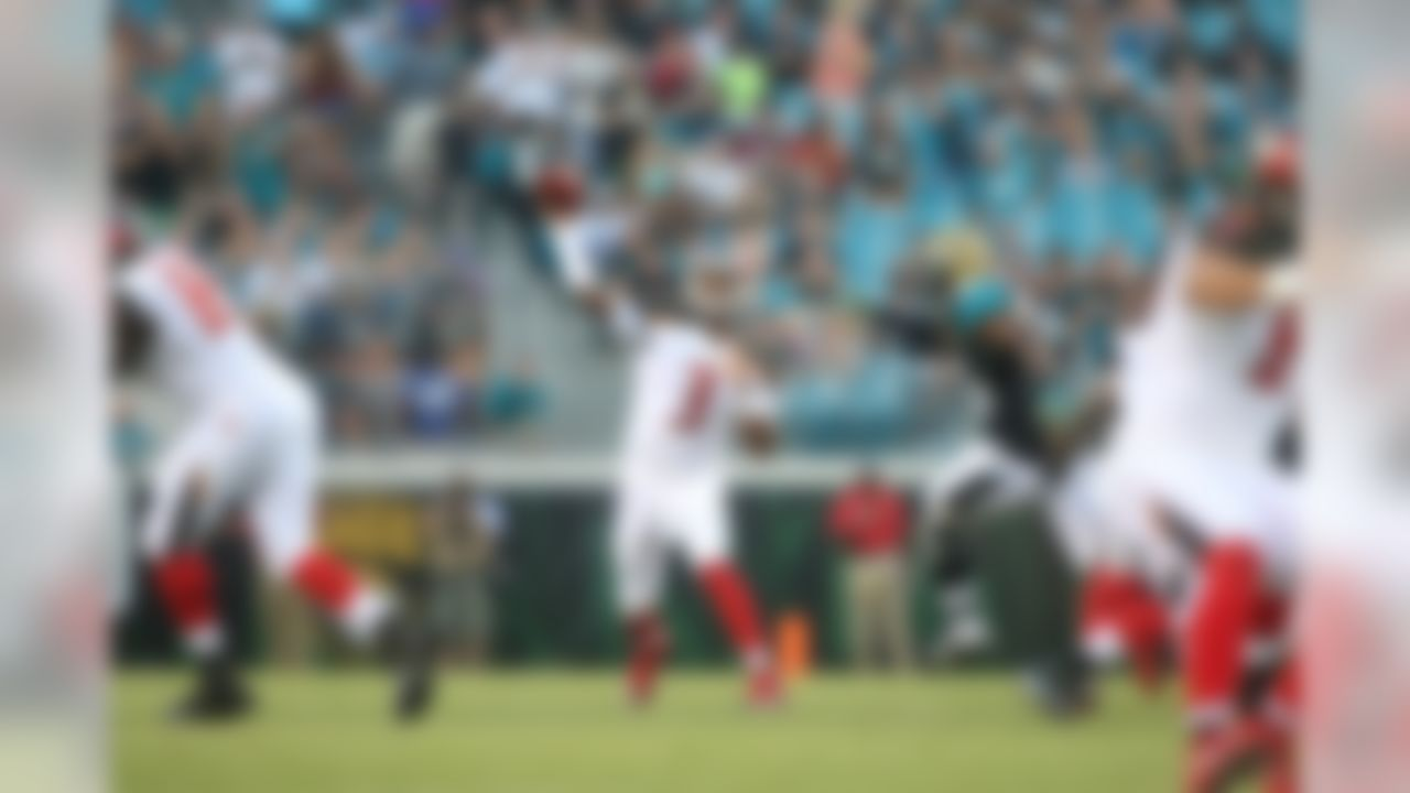 Tampa Bay Buccaneers quarterback Jameis Winston (3) throws during an NFL football game against the Jacksonville Jaguars at EverBank Field on Saturday, Aug. 20, 2016 in Jacksonville, FL.  (Perry Knotts/NFL)