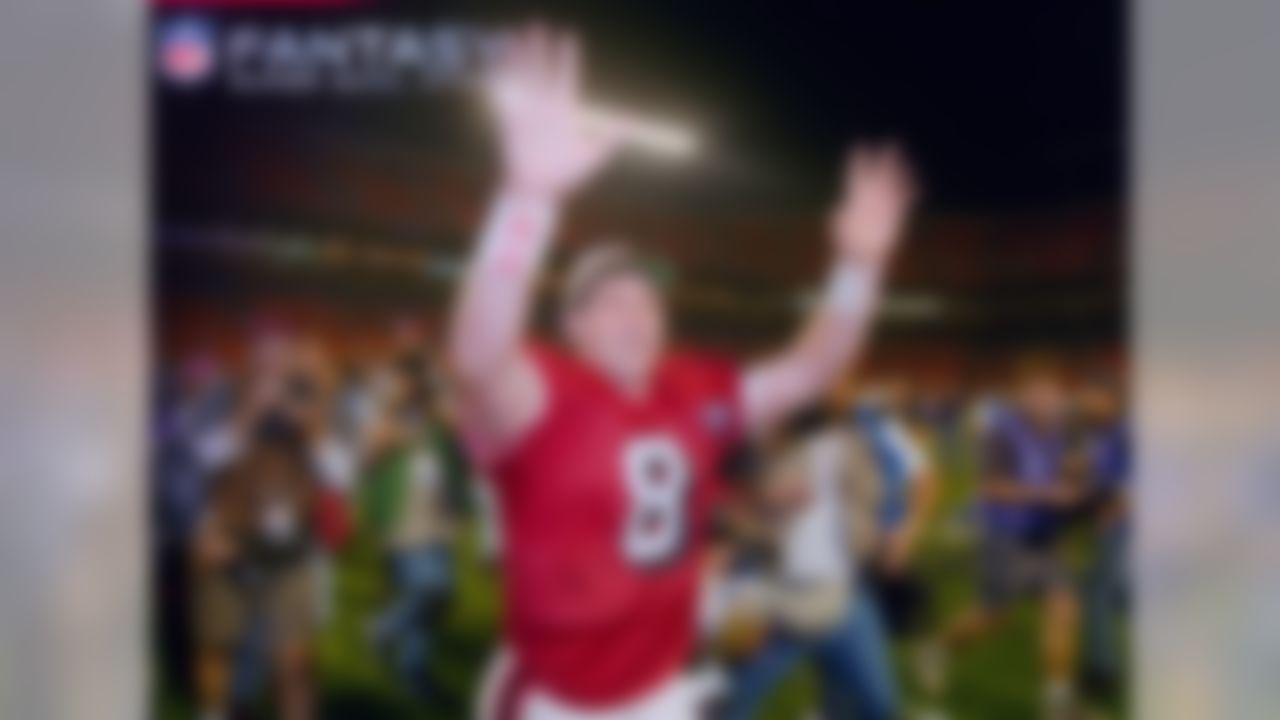 Young's 325-yard, six-touchdown performance in a 49-26 win over the San Diego Chargers was the greatest ever for a quarterback in the Super Bowl. He broke the previous record of five touchdown passes (Joe Montana, Super Bowl XXIV) and led the Niners with 49 rushing yards for a total of 41.9 fantasy points in the contest.
