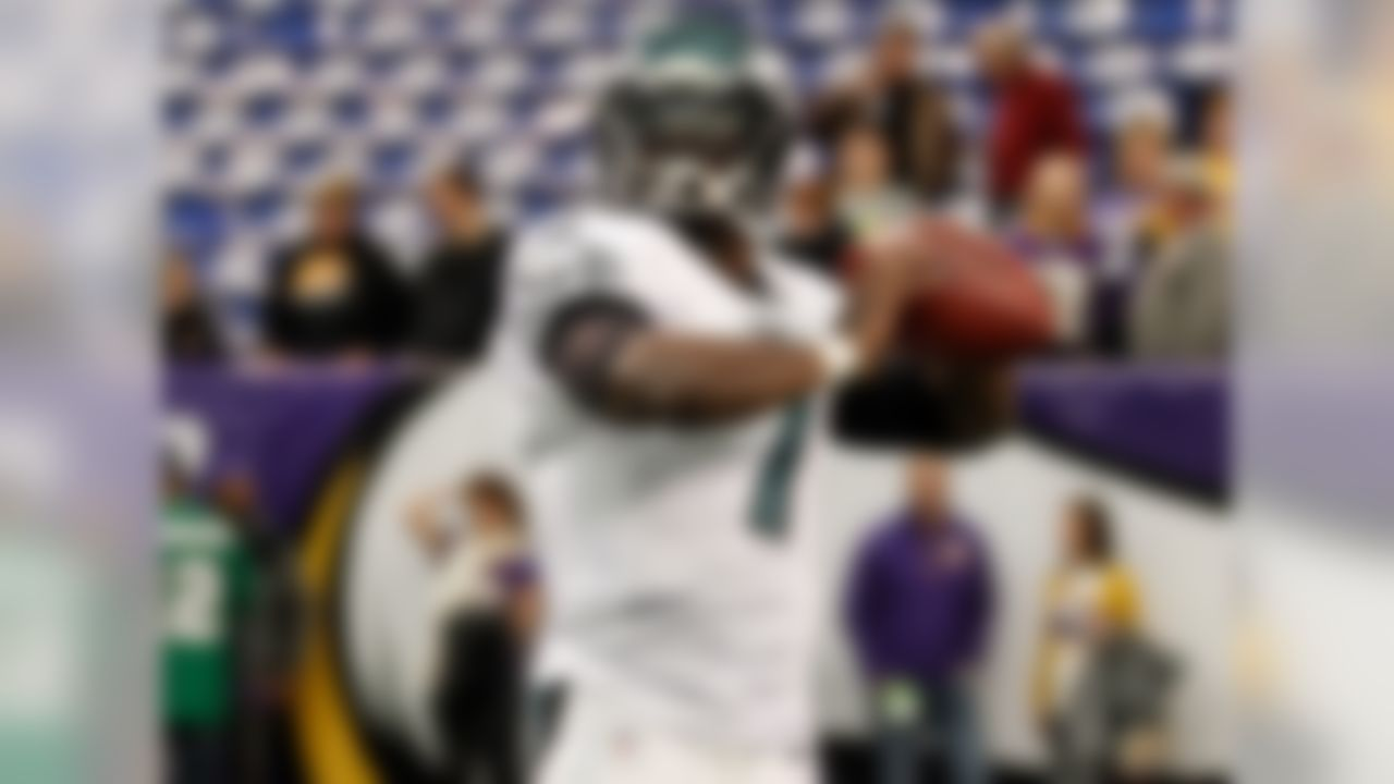 Donovan McNabb would be your answer if you based this on the totality of his career under Reid. No question. I am not disrespecting McNabb. But for one season? Give me Vick. The 2010 campaign -- when he threw 21 touchdowns with just six interceptions in 12 games while adding 676 rushing touchdowns and nine more scores -- was one of my favorite quarterback seasons ever.