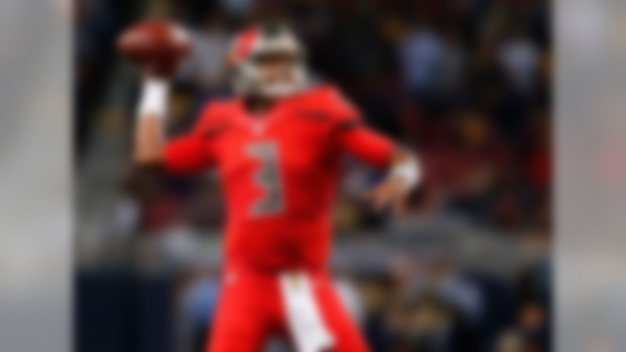 Draft position: Round 1, No. 1 overall.  Winston threw for 4,042 yards, had 22 touchdowns against 15 picks and recorded a passer rating of 84.2. He started off slowly, tossing seven picks in his first four games, but improved as the season wore on, putting up a touchdown-to-interception ratio of 16:8 over his last 12 games. It looks like Tampa Bay has found its franchise quarterback.