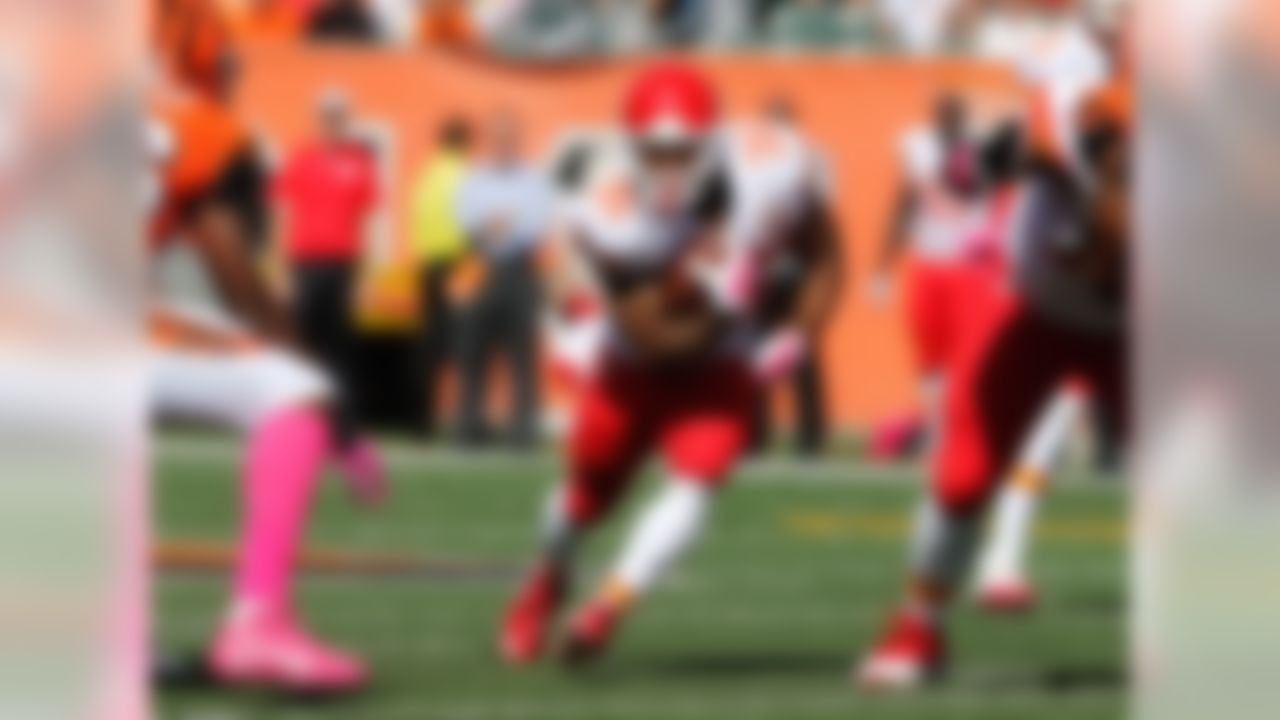 With Jamaal Charles likely suffering a torn ACL, we need to identify the next man up. While many will default to Knile Davis (Charles' backup for the last few years), the better pickup is  West. West's number was the first to get called after Charles went down, and he out-touched Davis six to two from that point on. West is an athletic specimen who had a great SPARQ score (a formula developed by Nike which measures player athleticism by outputting a single composite score). While West should take over the majority of Charles' workload, Davis will still get into the mix. Both backs should be rostered, but if you go after one, make it West. FAAB suggestion: 30-40 percent. (h/t Zach Whitman] for his excellent SPARQ coverage)