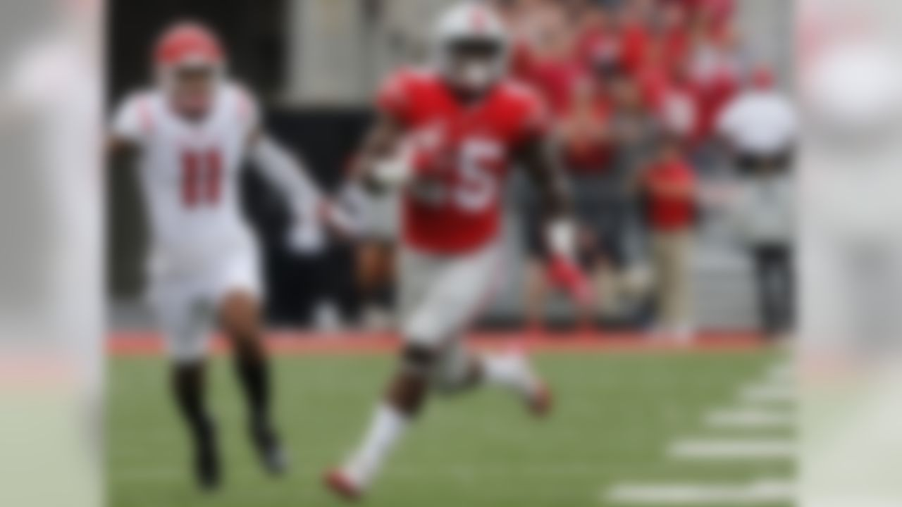Just the third Buckeye to rush for 1,000-plus yards as a freshman, Weber was placed in a tough position last season as the replacement for Ezekiel Elliott. He responded with a robust average of 6 yards per carry and Freshman All-America honors. While he's not as complete a back as Elliott, Weber is very effective on stretch plays, shows some power at 212 pounds and figures to command more touches in the OSU offense this fall. NFL.com analyst Chad Reuter ranks him among the top 20 players in the college game.