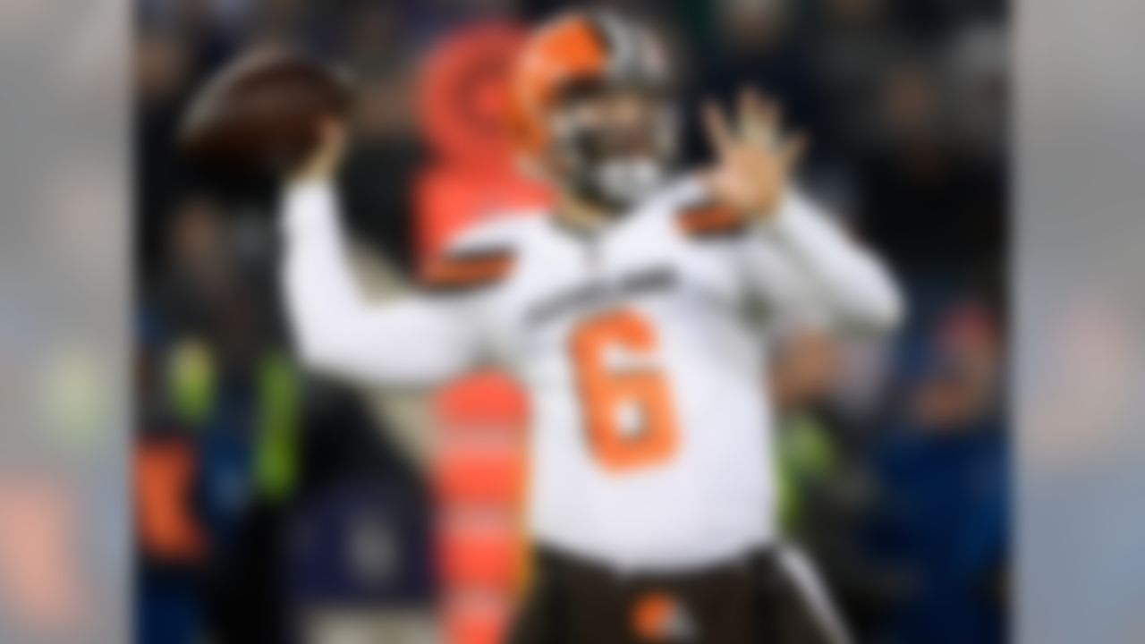 Draft position: Round 1, No. 1 overall.  Mayfield was directly responsible for the Browns reaching the seven-win threshold for just the fifth time since 1999. He kept them in games with his leadership skills and ability to make big plays, compiling a 6-7 record as a starter (in addition to rallying Cleveland from behind against the Jets in Week 3). He also set a new single-season rookie record for touchdown passes (27), while his passer rating (93.7) and per-game yardage total (266.1) were the best single-season marks in Browns history among players with 300-plus pass attempts and 13-plus starts. My pre-draft ranking: No. 4.