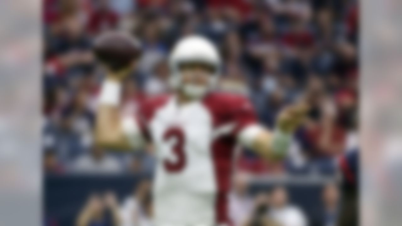 Arizona Cardinals quarterback Carson Palmer (3) throws against the Houston Texans during the first half of an NFL preseason football game, Sunday, Aug. 28, 2016, in Houston. (AP Photo/Eric Christian Smith)
