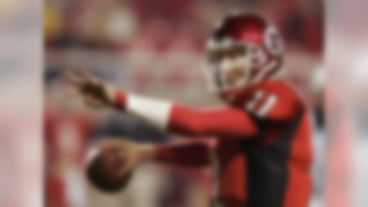 Utah quarterback Alex Smith (11) prepares to pass to wide receiver Paris Warren for a touchdown against Colorado State in the fourth quarter in this Nov. 6, 2004 photo, in Salt Lake City.  (AP Photo/Douglas C. Pizac)