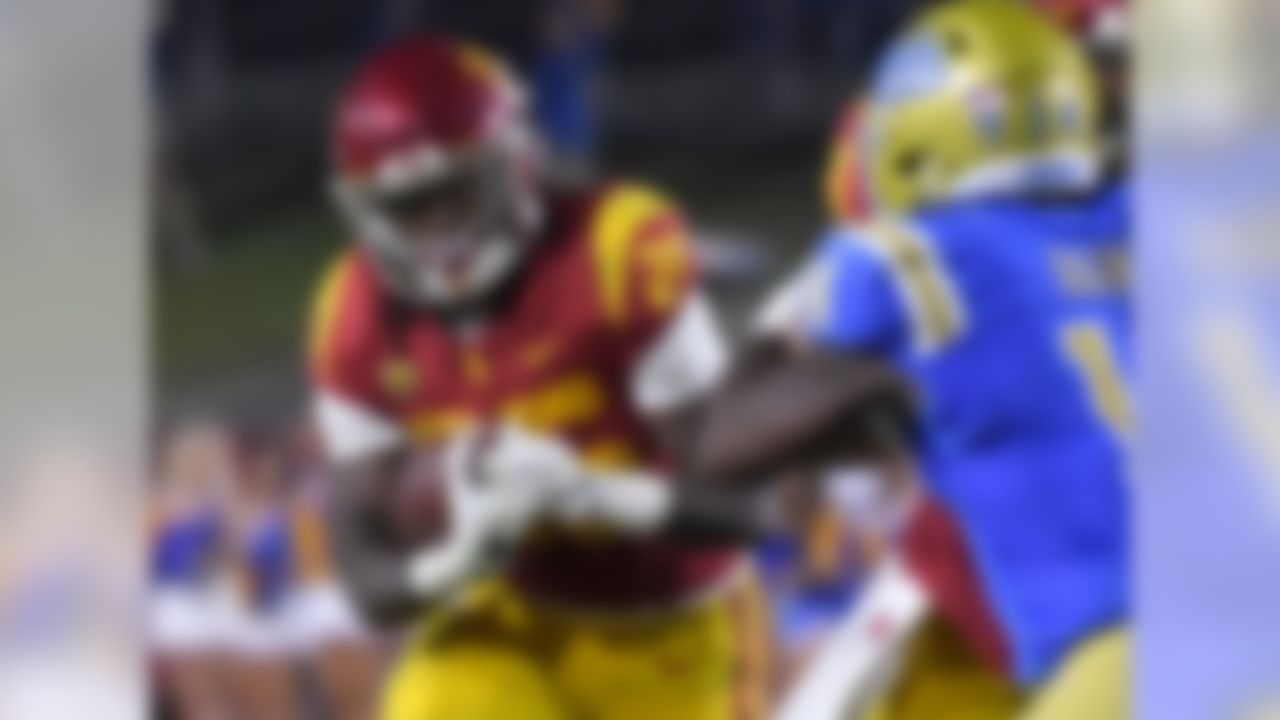 Game: Pac-12 championship vs. Stanford, Friday, 8 p.m. ET, ESPN 2017 stats: 212 carries for 1,346 yards (6.3 average), 16 TDs. 13 catches for 181 yards (13.9 average), 1 TD.  Jones looks and moves like a slasher, providing a home-run threat for the Trojans. He'll be used in a receiving role more in the NFL than he is now, and is willing to run with lean between the tackles.