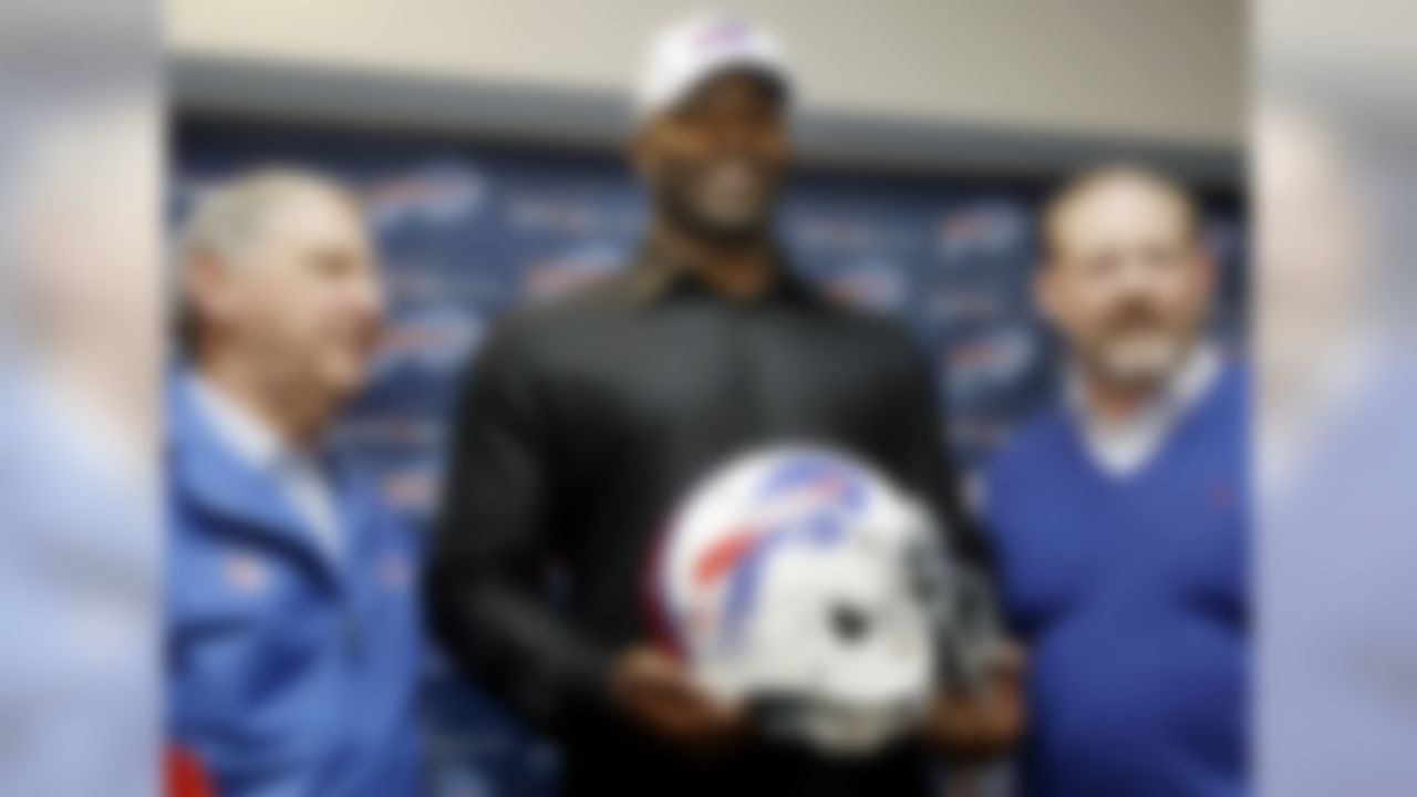 "Big names really do want to play for Buffalo! A ton of folks were talking up the Bills as a playoff team after spending huge money on Mario Williams in free agency. The team also added Mark Anderson from New England, and brought back Stevie Johnson on a big money deal.    What they were saying at the time: From ESPN's free agency ""Winners and losers"" article:   ""This is where perception comes into play in a positive way. Signing the best free agent on defense is a big win for a franchise that has struggled for more than a decade. The $100 million contract given to defensive end Mario Williams placed the Bills back on the map. Bills general manager Buddy Nix proved to be a good salesman. The Chicago Bears, Atlanta Falcons and Seattle Seahawks couldn't -- and didn't even try to -- match or challenge the Bills."""