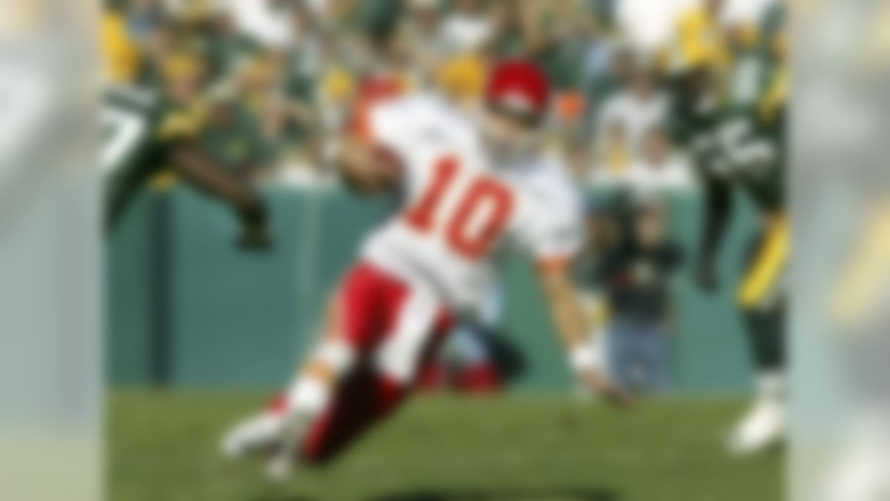 """Trent Green is a first-year nominee, a good guy and a former colleague at NFL Network, so we'll start with him. His opportunity with the St. Louis Rams and """"The Greatest Show on Turf"""" was cut (very) short by Rodney Harrison -- who's also one of the 100-plus nominees for the Class of 2014 -- but that didn't stop Green from having a productive run with the Kansas City Chiefs from 2001 to 2006, a stint that included three consecutive 4,000-yard seasons. However, Green isn't in the top 15 in any major category and was 0-2 in the playoffs as a starter. Hall probability: None."""