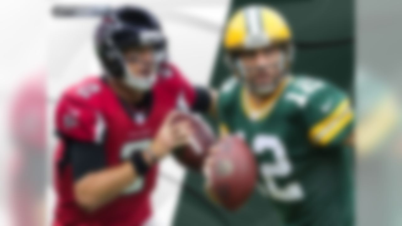 The Packers/Falcons game features a matchup of 2 of the last 3 NFL MVPs in Matt Ryan (2016) and Aaron Rodgers (2014). The last matchup of MVP-winning QBs that did not involve either Tom Brady or Peyton Manning came in Week 13, 2009, when Kurt Warner's Cardinals defeated Brett Favre's Vikings 30-17.