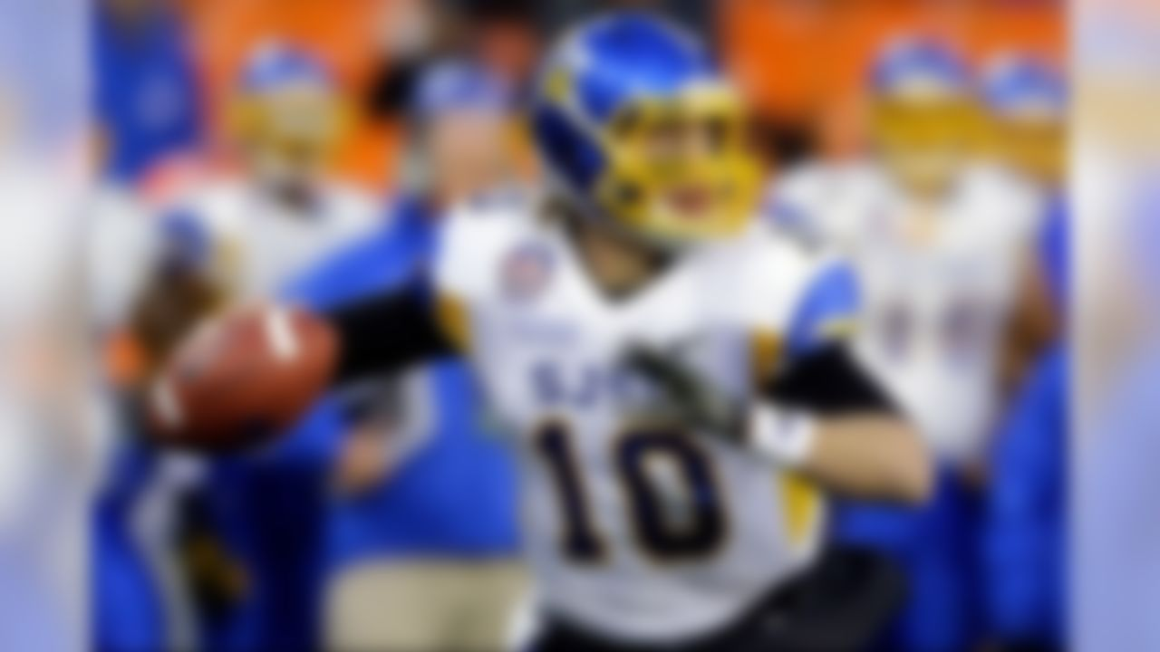 """Teams in search of a cerebral quarterback with capable physical tools will quickly fall in love with Fales. The Spartans' star is one of the best """"connect the dots"""" quarterbacks in college football, with a tremendous feel for working through progressions to hit the open receiver. Although some scouts question his arm strength, the fact that Fales displays outstanding accuracy, ball placement and touch on intermediate and deep throws could make him an ideal fit for a team running a West Coast offense. (AP Photo/Alex Brandon) » For more go to NFL.com/Draft365"""