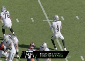 Derek Carr's play action improvements can slow Eagles pass rush | Next Gen Edge
