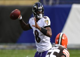 David Carr analyzes two 'brilliant' throws from Lamar Jackson  vs. Browns