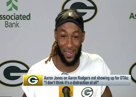 Aaron Jones addresses whether Rodgers' absence is a distraction for Packers