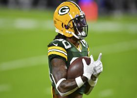 Reach! Jamaal Williams extends for 29-yard sideline catch