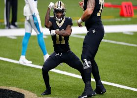 Deonte Harris gives Saints lead before half with first career receiving TD