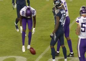Titans' Cunningham blocks Quigley's punt