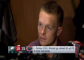Cody Parkey reacts to late field goal miss vs. Eagles