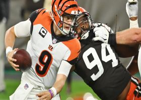 Adrian Clayborn overpowers Jonah Williams to sack Burrow