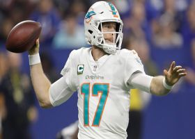 Tannehill shows arm strength on 21-yard dart to Smythe