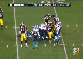 Efe Obada makes a nice stop against Steelers
