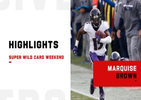 Every touch by Marquise Brown from 128-yard game | Super Wild Card Weekend