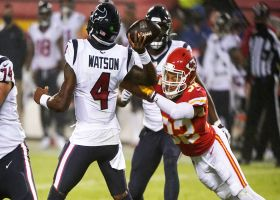 Tyrann Mathieu pressures former teammate Deshaun Watson into key INT